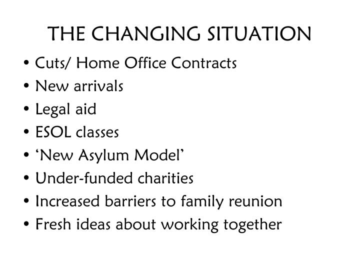 THE CHANGING SITUATION