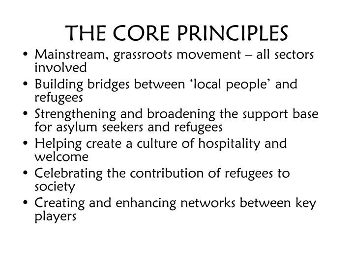 THE CORE PRINCIPLES