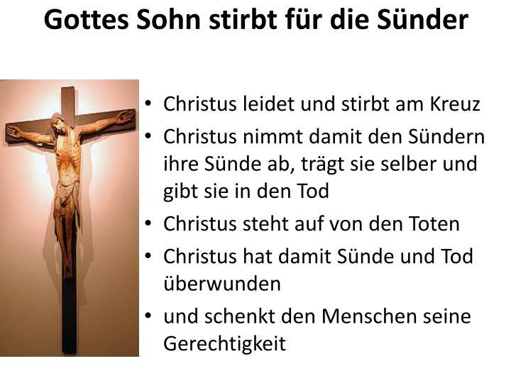 Gottes Sohn stirbt für die Sünder