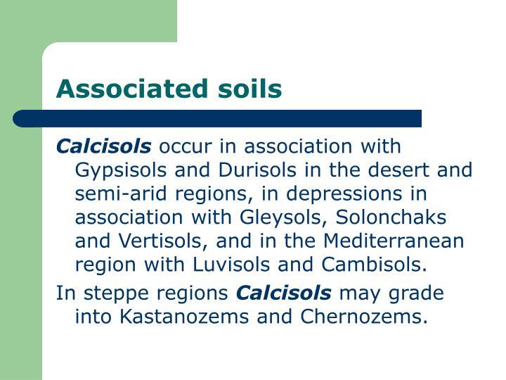 Associated soils