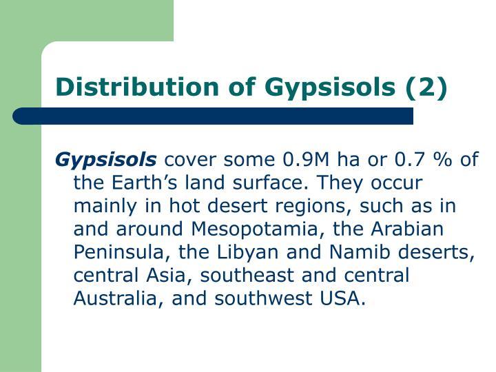 Distribution of Gypsisols (2)