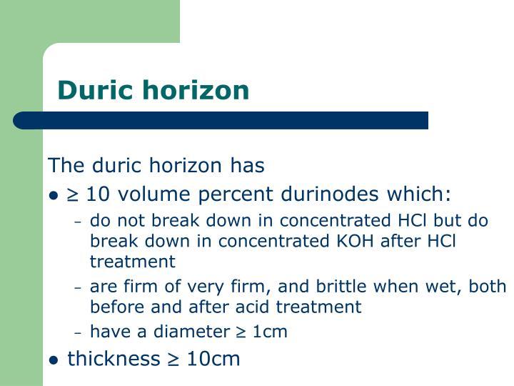 Duric horizon