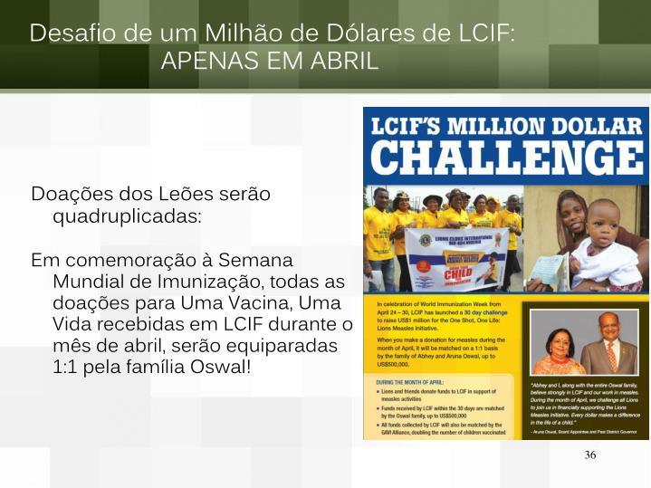 Desafio de um Milhão de Dólares de LCIF: