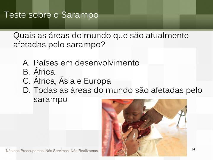 Teste sobre o Sarampo