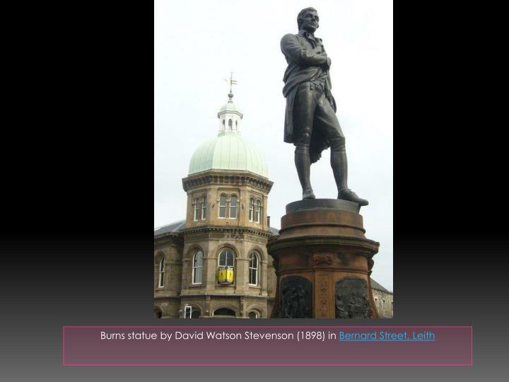 Burns statue by David Watson Stevenson (1898) in