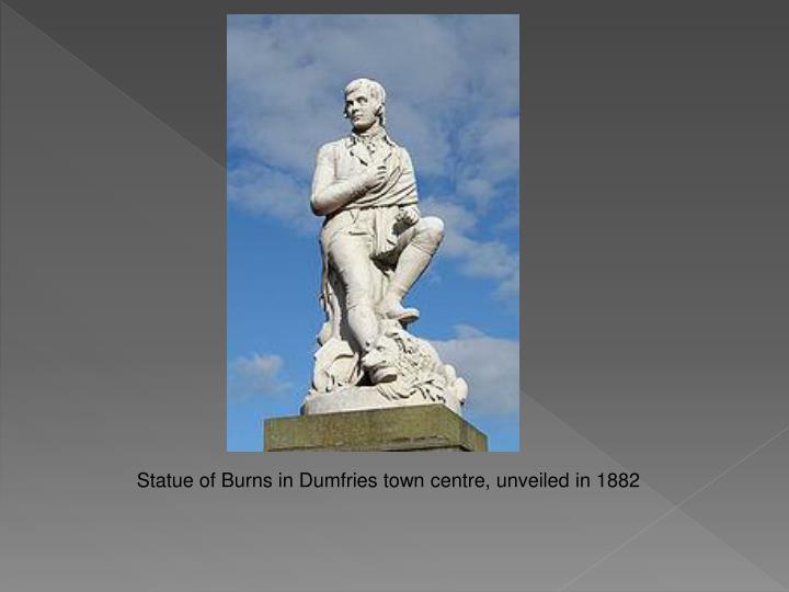 Statue of Burns in Dumfries town