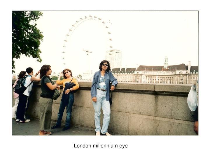 London millennium eye