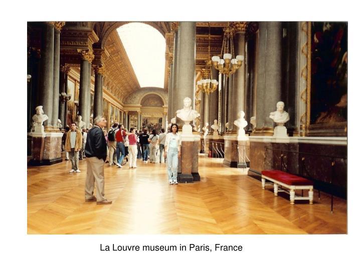 La Louvre museum in Paris, France