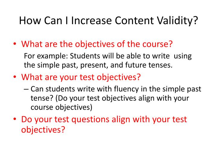 How Can I Increase Content Validity?