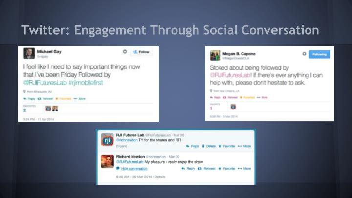 Twitter: Engagement Through Social Conversation