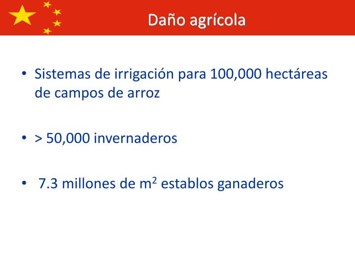 Sistemas de irrigación para 100,000 hectáreas de campos de arroz