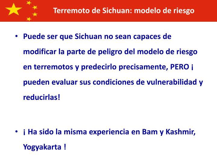 Terremoto de Sichuan: modelo de riesgo