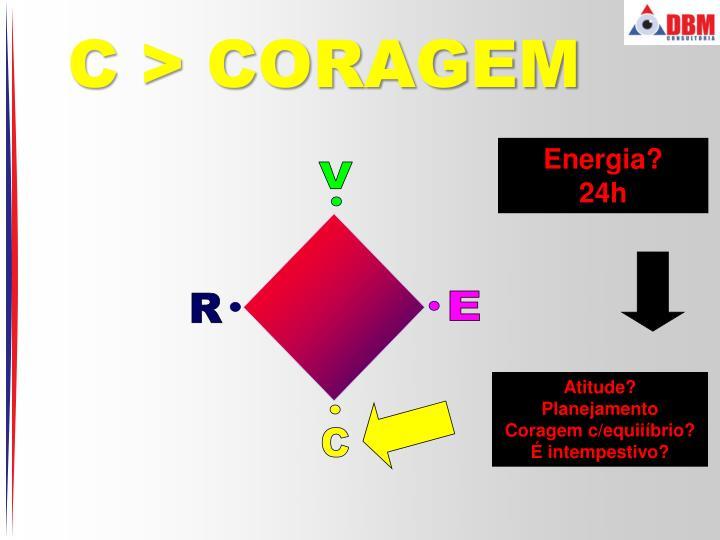 C > CORAGEM
