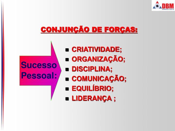 CONJUNÇÃO DE FORÇAS: