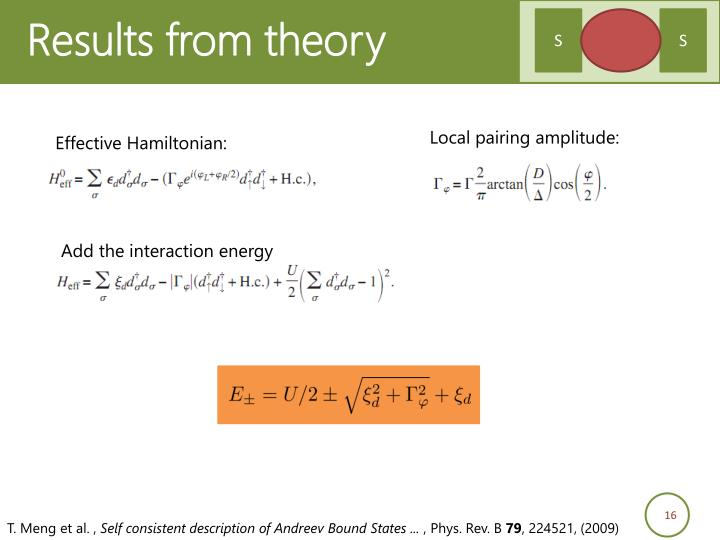 Results from theory