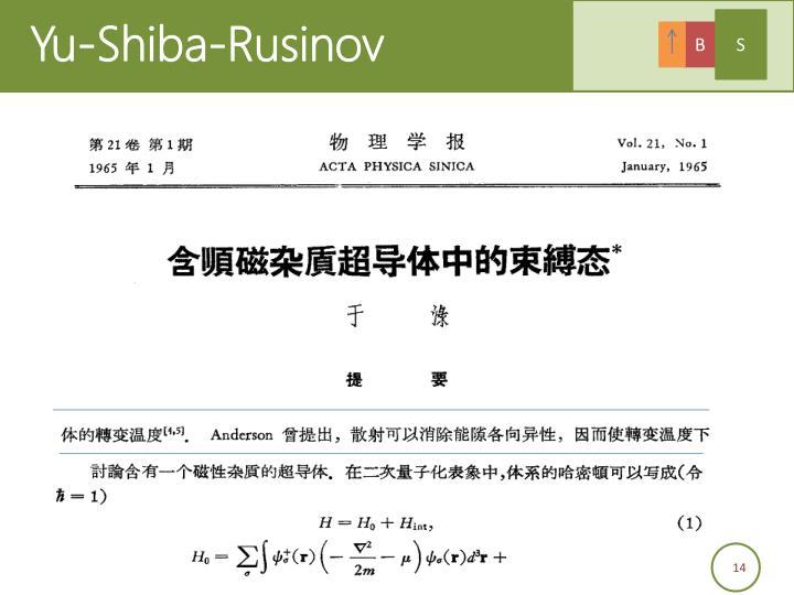 Yu-Shiba-Rusinov
