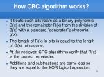 how crc algorithm works