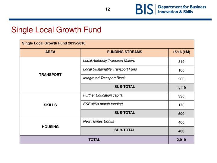 Single Local Growth Fund