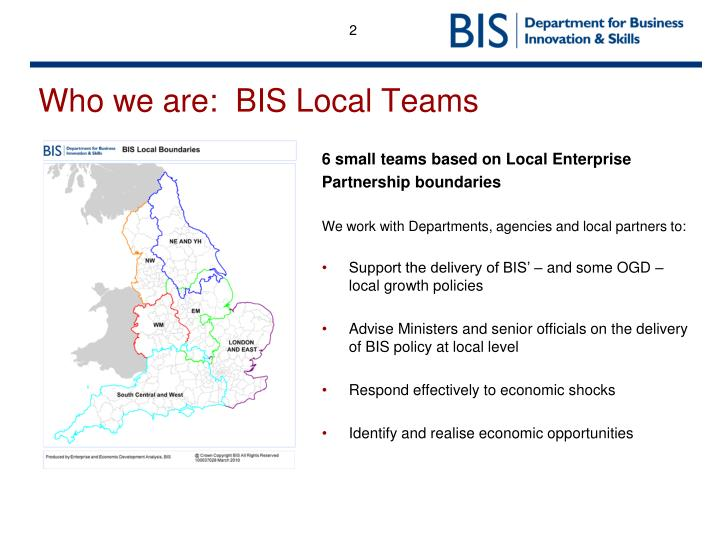 Who we are:  BIS Local Teams