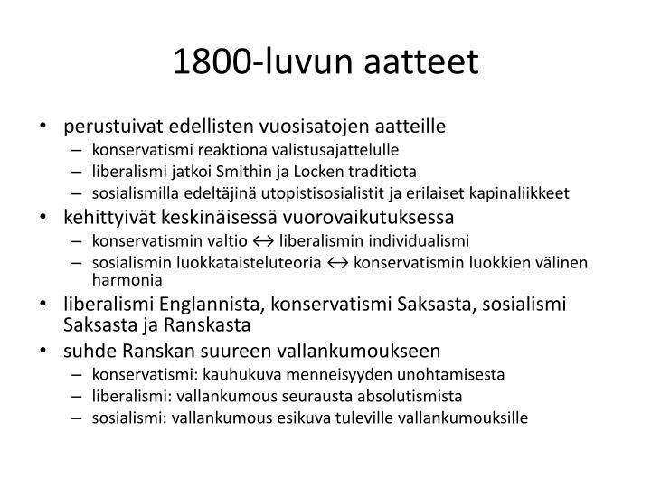 1800-luvun aatteet
