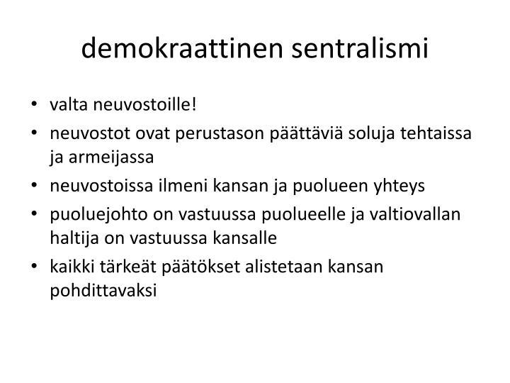 demokraattinen sentralismi
