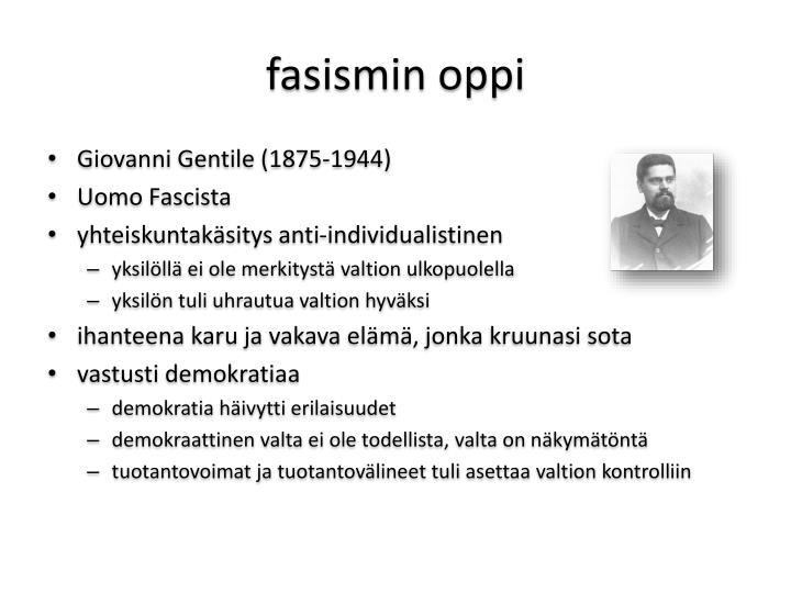 fasismin oppi