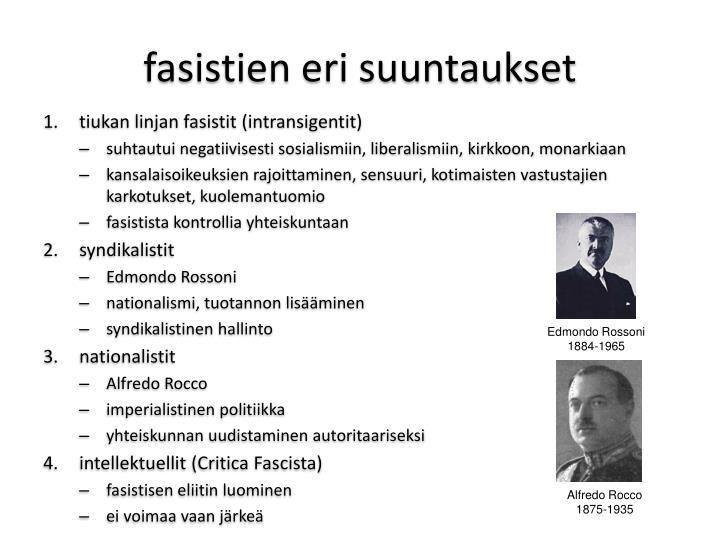 fasistien eri suuntaukset