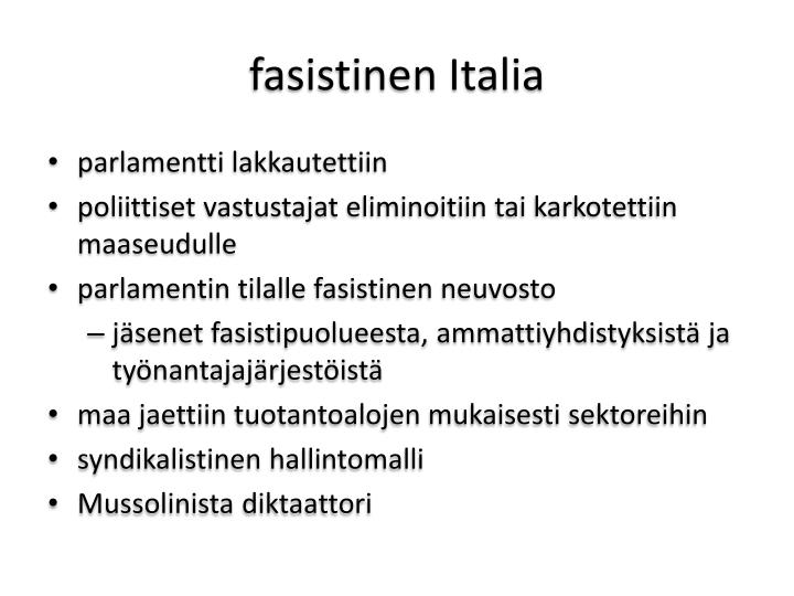 fasistinen Italia