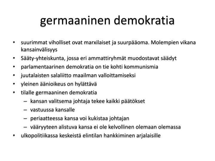 germaaninen demokratia