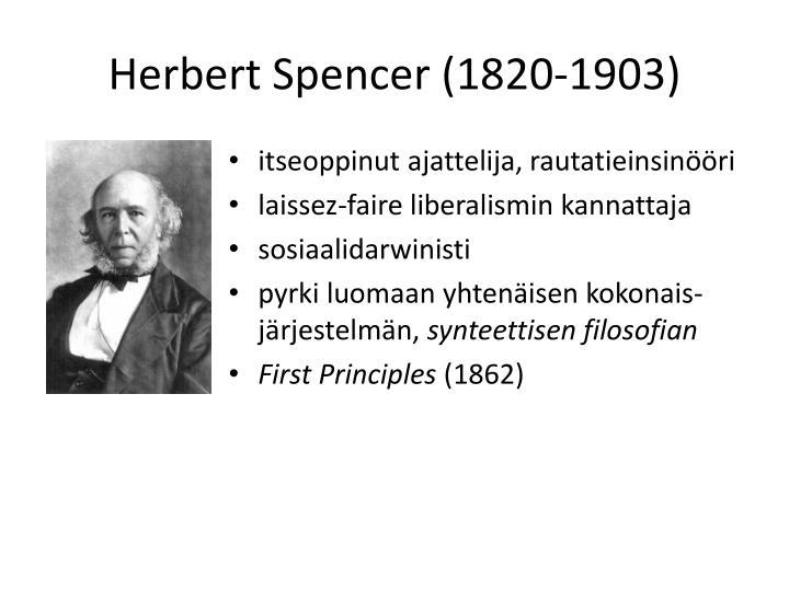 Herbert Spencer (1820-1903)