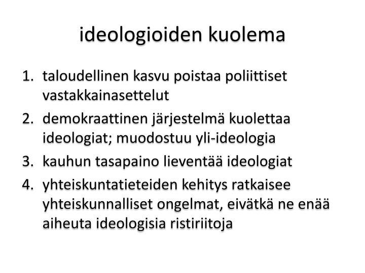 ideologioiden