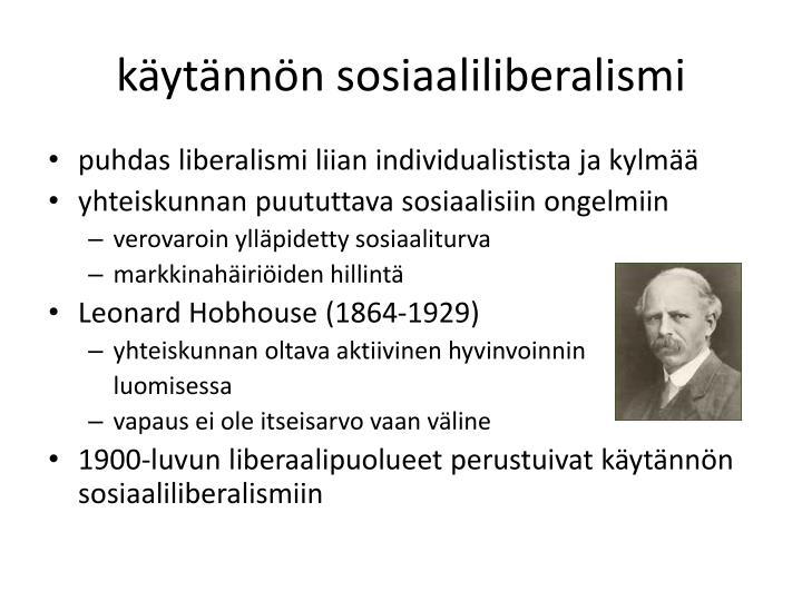 käytännön sosiaaliliberalismi