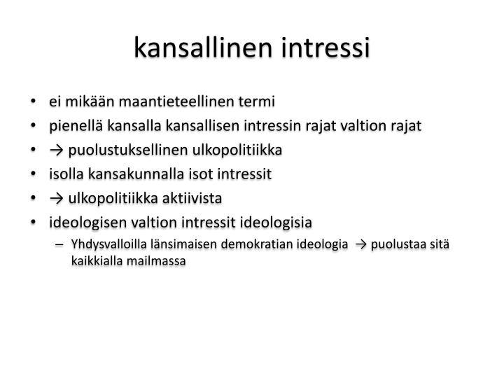 kansallinen intressi