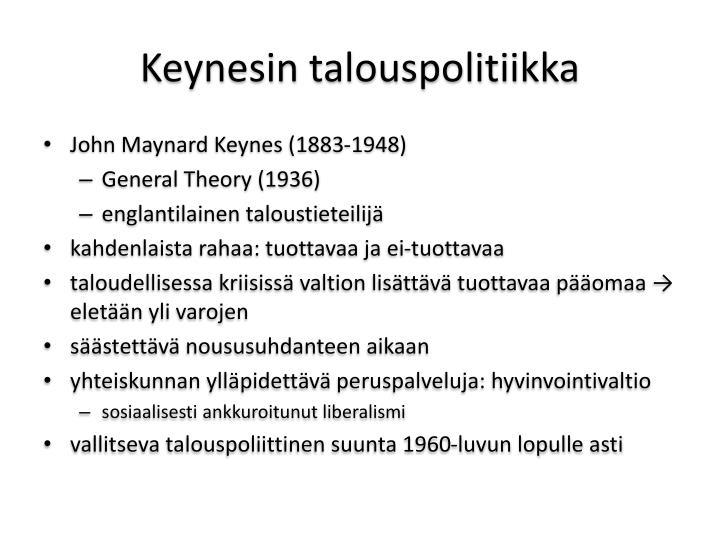 Keynesin talouspolitiikka