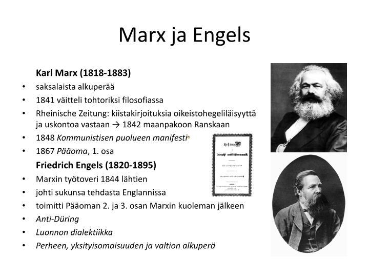Marx ja Engels
