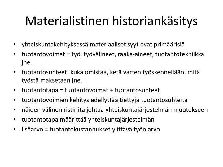 Materialistinen historiankäsitys