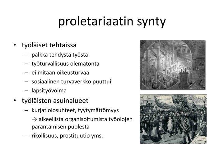 proletariaatin synty