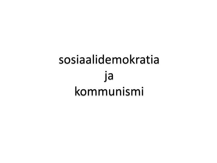 sosiaalidemokratia