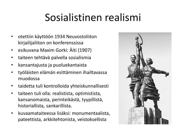 Sosialistinen realismi