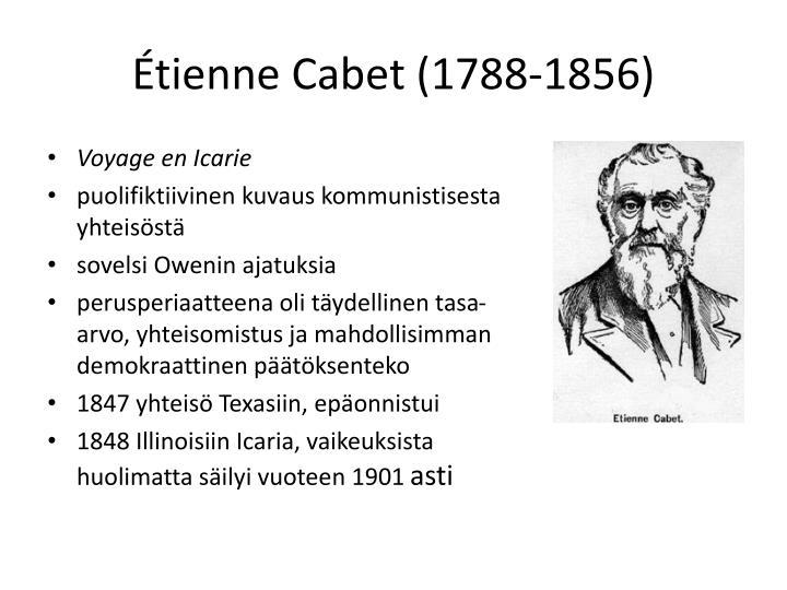 Étienne Cabet (1788-1856)