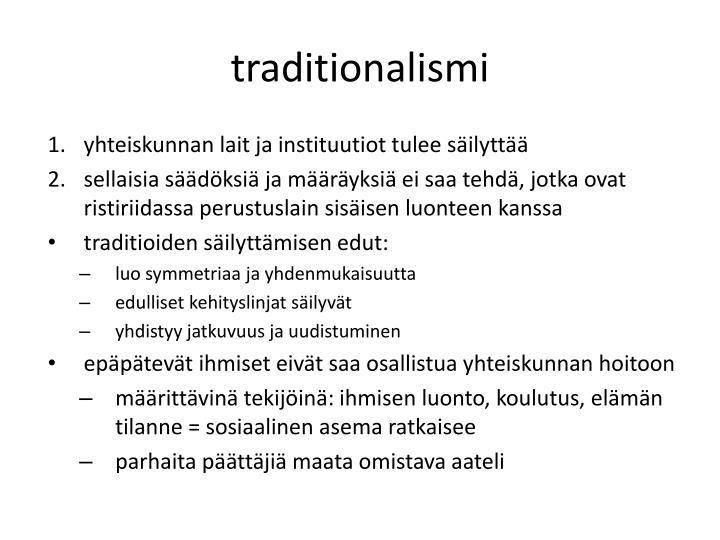 traditionalismi