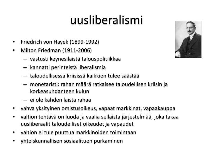uusliberalismi