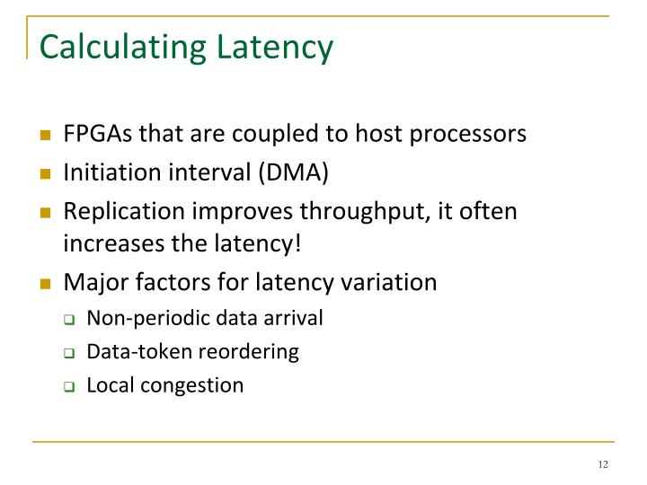 Calculating Latency