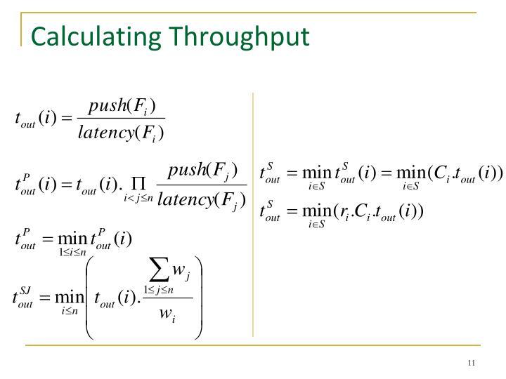 Calculating Throughput