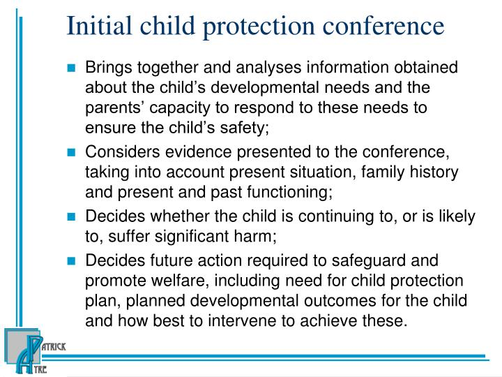 Initial child protection conference