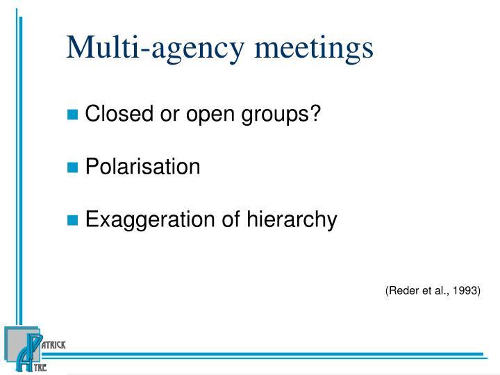 Multi-agency meetings