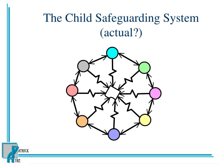 The Child Safeguarding System (actual?)