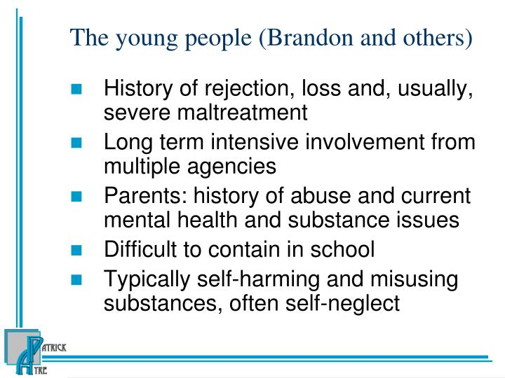 The young people (Brandon and others)