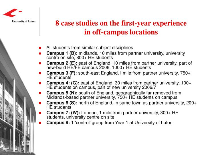 8 case studies on the first-year experience