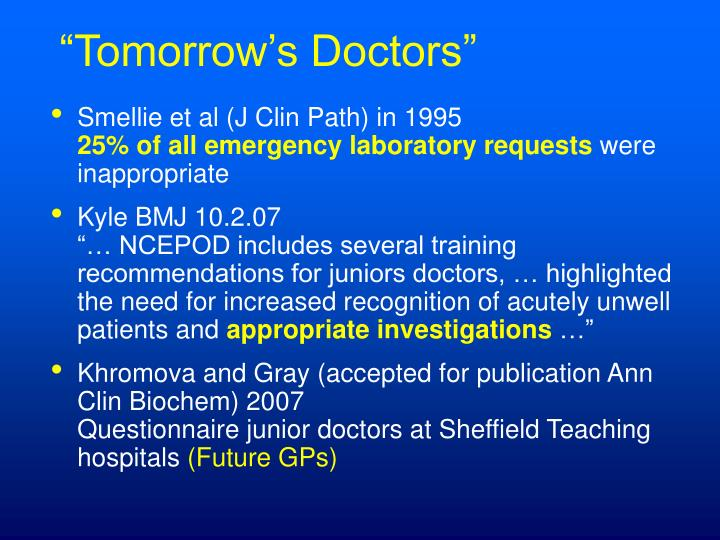 """Tomorrow's Doctors"""